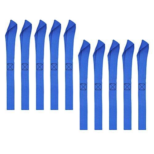 FOROREH 10pcs Spanngurt Zurrschlaufen Tie Down Straps, 30x2,5cm Soft Befestigungsgurte Zurr Schlaufen für ATV, UTV, Motorrad, 12Zoll 125kg Belastbarkeit - Blau