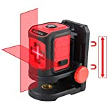 INKERMA Laser Level Tool, 50ft Cross Line Laser Level Multipurpose Laser Lever for Picture Hanging Construction Wall Writing Tile Installation with horizontal and vertical line