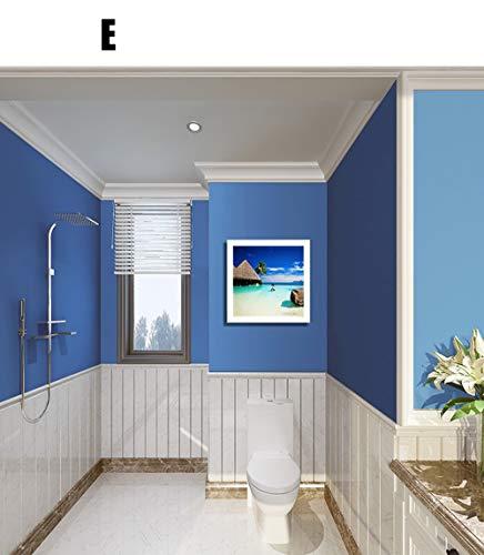 Xiudo Fotolijst van 40 x 40 cm, waterdicht, aan de muur bevestigde kledinghouder voor badkamer en slaapkamer, organizer wandmontagemateriaal meegeleverd.