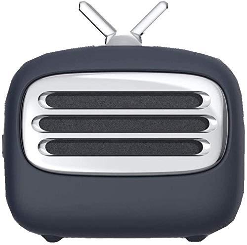 Altavoz Bluetooth retro para televisión, simple, lindo y conveniente, creativo para mesita de noche, altavoz multifuncional inteligente, color negro