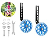 Ruedines de Entrenamiento para Bicicleta Infantil, Bicicleta Infantil Ruedines, Ruedines Bicicleta, Ruedines, Ruedas Estabilizadoras (Azul)