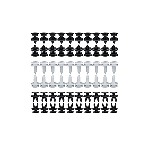 BaiShengJiang 120pcs 6 tamaños Paneles de Ajuste de la Puerta de automóviles Clips Auto Cuerpo Push Pin Rivet Interior Techo Alfombra Retenedor/Ajuste para -VW Transporter T4 T5 T6 /