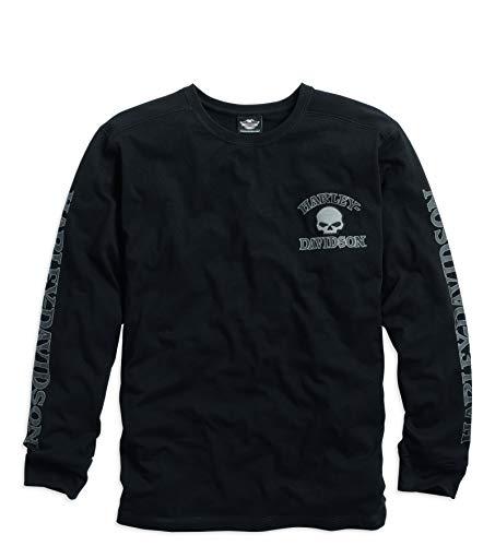 Harley Davidson Langarm-Shirt Skull Black, L