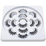 WEIYUE 3D Naturales largas pestañas Falsas pestañas postizas Volumen dramático Maquillaje extensión de la pestaña de Las pestañas de la Seda (Color : 707)