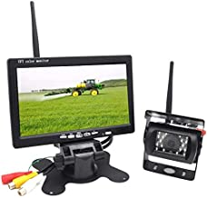 $65 » Padarsey Upgraded Wireless Rear View Camera with 7'' LCD Wireless Reversing Monitor Display for Waste Truck, Crane, Bulldo...