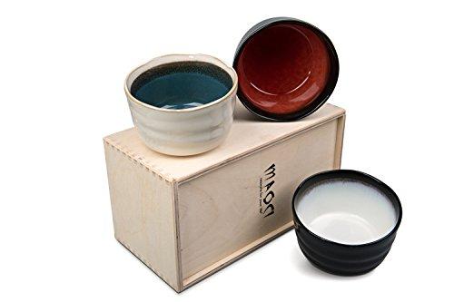 MAOCI - Matcha-Schalen/Teeschalen 3er Set Arata natur NEW EDITION