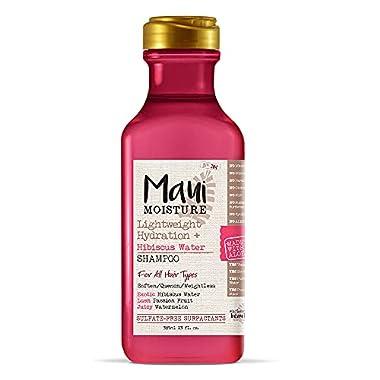 Maui Moisture Lightweight Hydration + Hibiscus Water Shampoo for Daily Moisture, No Sulfates, 13 fl oz