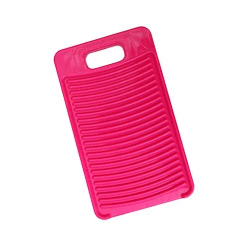 DOITOOL Plástico Mini Tábua de Lavar Antiderrapante Placa de Lavagem Tábua de Lavar Roupa para Crianças Camisas de Roupa Limpa para Casa Dormitório Rosa Vermelha