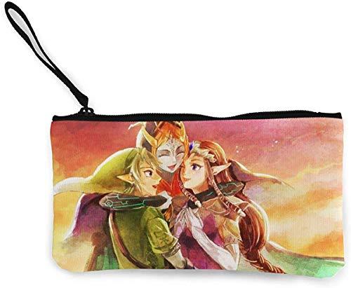 The Legend of Zelda Portemonnee met ritssluiting van linnen, met telefoonband