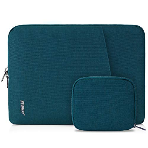NEWHEY Laptop Sleeve Case 15-15.6 Inch Water Repellent Laptop Cover Bag Shock Resistant Notebook Protective Bag with Small Case Deep Teal