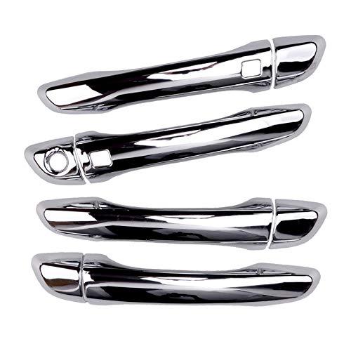 FLLOVE FANGLIANG 8 unids/Set ABS ABS ABS Frontal Chrome PUERTUD Hander CUBIERTE Trim Smart Key Age FIT para Hyundai Elantra 2017 2018 2019 2020 LHD