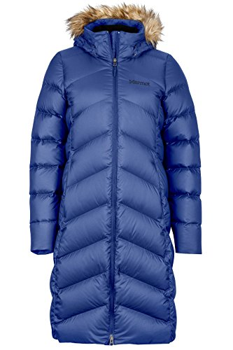 Marmot Women's Montreaux Full-Length Down Puffer Coat, Arctic Navy, X-Small