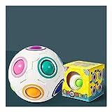Z-Color Magic Rainbow Ball, Zappeln Ball Geschwindigkeit Würfel Puzzle Ball Cube Brain Teasers...