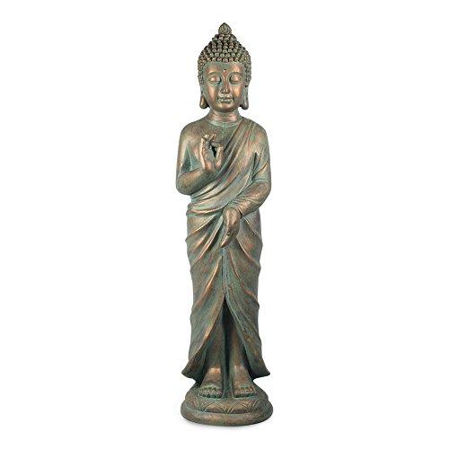 Art Deco Home - Figura Grande Resina Buda 82 cm - 11854SG