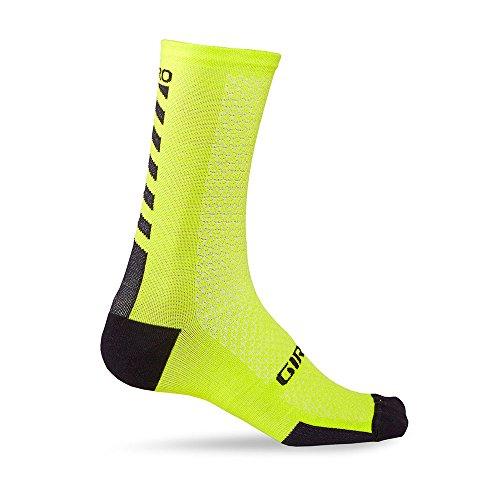 Giro GIC617, HRC+ -Calzini da Ciclismo in Lana Merino, Taglia M, Colore: Lime/Nero Unisex Adulto, Verde, M