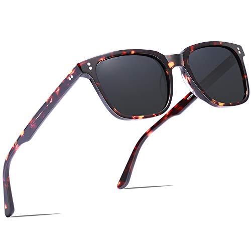 Carfia Vintage Polarizzati Occhiali da Sole da Uomo Donna UV400 Protezione Acetato Telaio