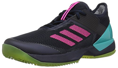 adidas Women's Adizero Ubersonic 3 Clay Tennis Shoe, Legend Ink/Shock Pink/hi-res Aqua, 11.5 M US