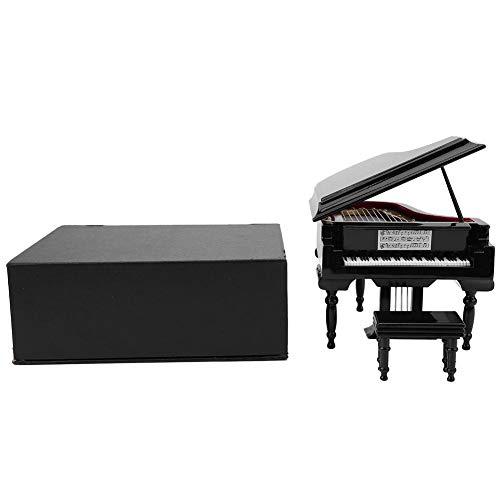 HEEPDD miniatuur piano, hout miniatuur klassiek zwart vleugels muziekinstrument pianomodel display mini ornamenten Craft Home Decor met box