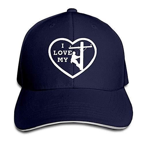 Preisvergleich Produktbild AOHOT Herren Damen Baseball Caps, Hüte,  Mützen,  Classic Baseball Cap,  I Love My Lineman Heart Sandwich Hat Baseball Cap Dad Hat