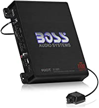 BOSS Audio Systems R1100M Riot Series Car Audio Subwoofer Amplifier - 1100 High Output, Monoblock, Class A/B, 2/4 Ohm Stable, Low/High Level Inputs, Low Pass Crossover, Mosfet Power Supply, Stereo