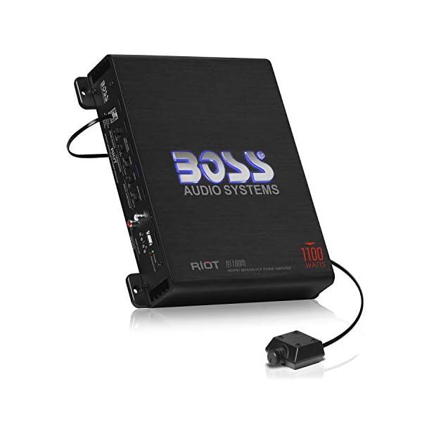 BOSS Audio Systems R1100M Monoblock Car Amplifier – 1100 Watt Amp, 2/4 Ohm...