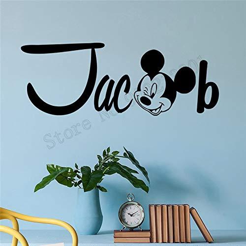 Dekorative Kinderzimmer Textur Wandaufkleber Mauskopf Personalisierung Raumdekoration einfache Kunst entfernbare Hauptdekoration exquisite Verzierung 57x21cm