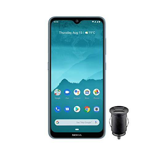 Nokia 6.2 Smartphone - Deutsche Ware (16cm (6, 3 Zoll), 64GB interner Speicher, 4GB RAM, Dual Sim) inkl KFZ-Adapter, Eis Farbe