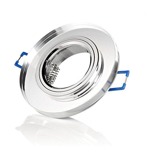 sweet led® 12 er-Set Einbaustrahler glas, spiegel inkl. GU10 Fassung 230V Einbauleuchten klarglas Einbauspots Einbauleuchten (glas spiegel-rund)