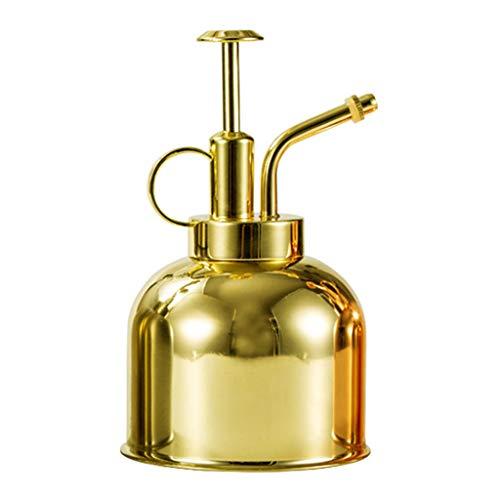 PHILSP Lata de riego Botella de Spray de riego Lata de nebulización de Acero Inoxidable Herramienta de Planta de jardín Maceta de aspersión Oro