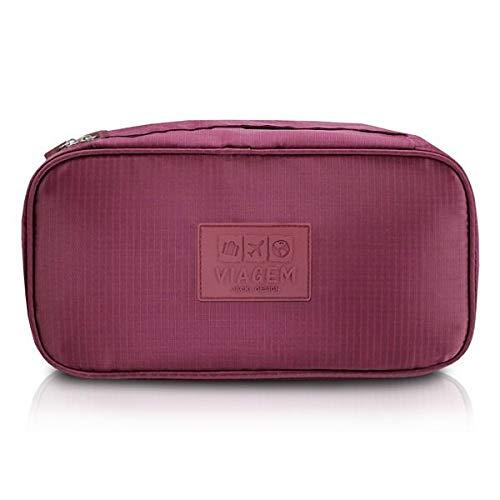 Bolsa Porta Lingerie Viagem Poliéster Vinho - Jacki Design