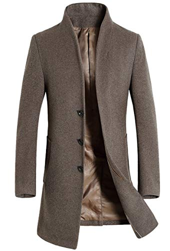 Kedera Men's Winter French Woolen Coat Business Down Jacket Trench Topcoat Light...