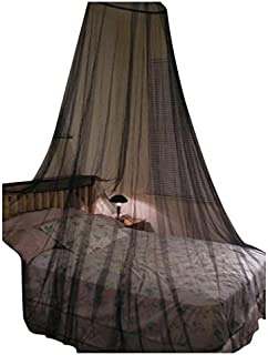 OctoRose Round Hoop Bed Canopy Netting Mosquito Net Fit Crib, Twin, Full, Queen, King (Black)