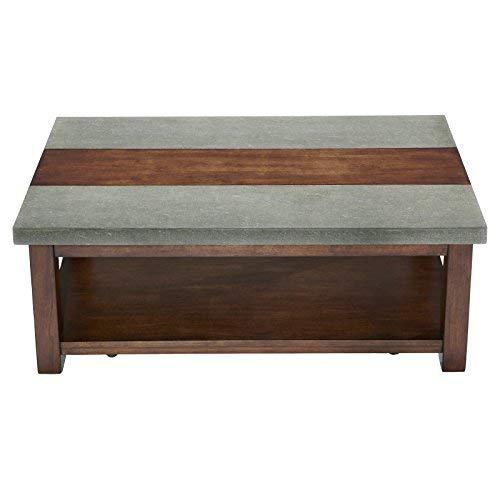Progressive Furniture Cascade Cocktail Table, Nutmeg/Cement