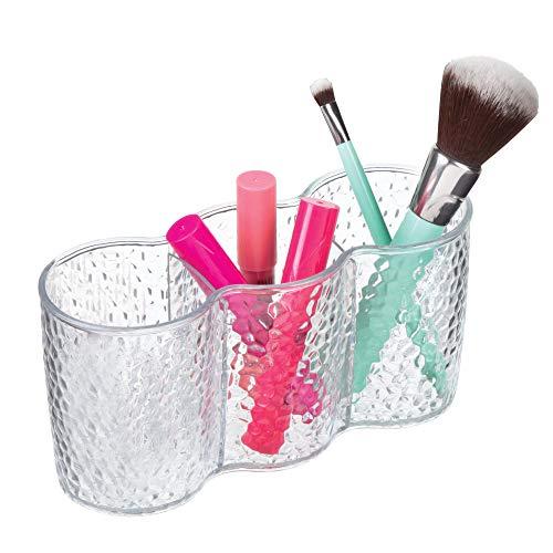 InterDesign Rain Make-up Organizer, runder Aufbewahrungsbehälter aus Kunststoff, durchsichtig