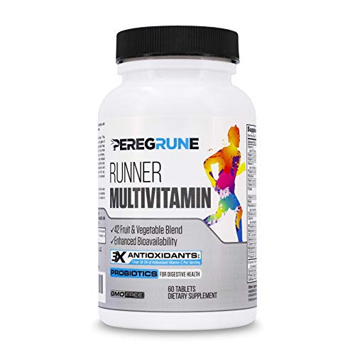 Runner Vitamin: Engineered Multivitamin for Runners | Antioxidants for Health & Recovery | Vitamin B Complex for Running Endurance, Energy, VO2 Max, | Probiotics & Whole Foods | Vegan