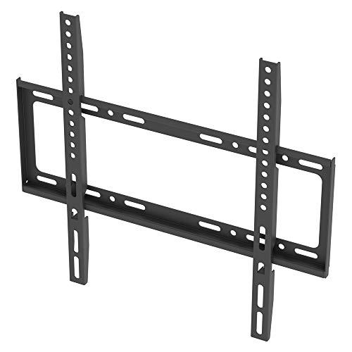 Soporte de pared para TV de 26 a 55 pulgadas, soporte fijo de pared para TV, soporte de pared para TV hasta VESA 400 x 400 mm, montaje plano a pared