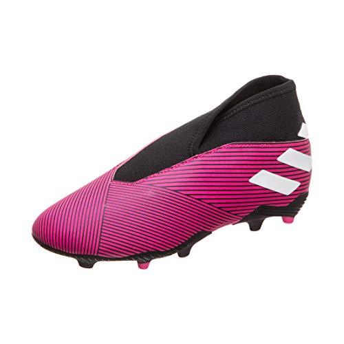 adidas Nemeziz 19.3 Ll Fg J, Scarpe da Calcio Bambino, Rose Flash Blanc Noir, 32 EU