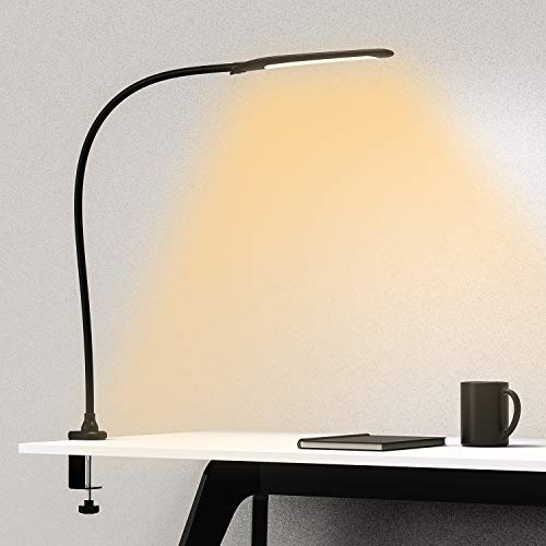 YOUKOYI Desk Lamp with Clamp, Swing Arm Lamp, Flexible...