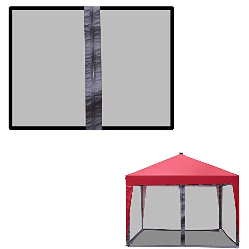 Mosquito Net for 10x10ft Outdoor PortableFolding Pop Up Gazebo Canopy Shade Tent (Black Netting)