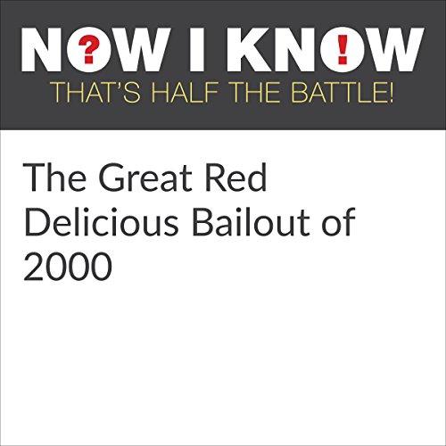 Diseño de la portada del título The Great Red Delicious Bailout of 2000
