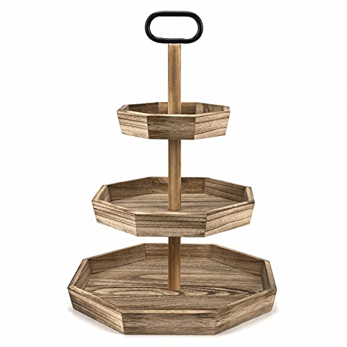 wooden tiered cupcake stand - 1