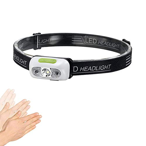 Linterna frontal LED de 1000 lúmenes, faro LED, sensor de movimiento, ultra brillante, faro de protección, potente faro USB, recargable e impermeable