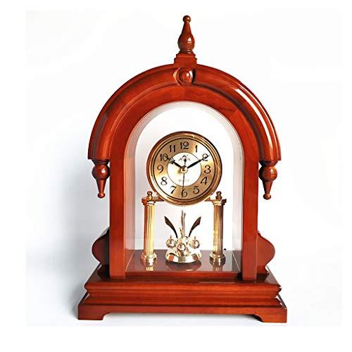 GYZX Estilo Sólido Madera Escritorio Reloj de Mute Escritorio Escritorio Escritorio Sentado Reloj Sala de Estar Home Moda Desktop Retro Reloj Adornos