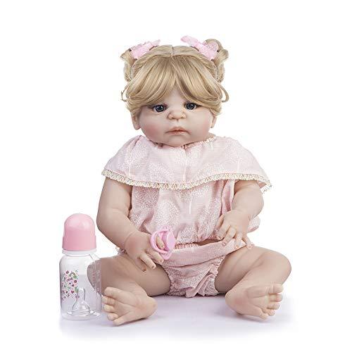55 Cm De Cuerpo Completo De Silicona Reborn Baby Doll Juguetes para Niñas Bonecas Rubia Recién Nacida Princesa Bebe Alive Babies Presente Regalo Baño Juguete
