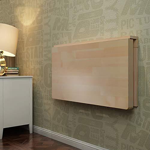 Hairong Wandtisch aus Holz Klapptisch, Wand Beistell-Tische for Küche/Esszimmer/Schlafzimmer/Flur, Holzfarbstudie Computer-Schreibtisch (Size : 120 * 40CM)