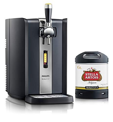 Bierzapfanlage PerfectDraft 6-Liter. Beinhaltet 1 x 6L Fass Stella Artois Bier - Lager. Inklusive 5euros Pfand.