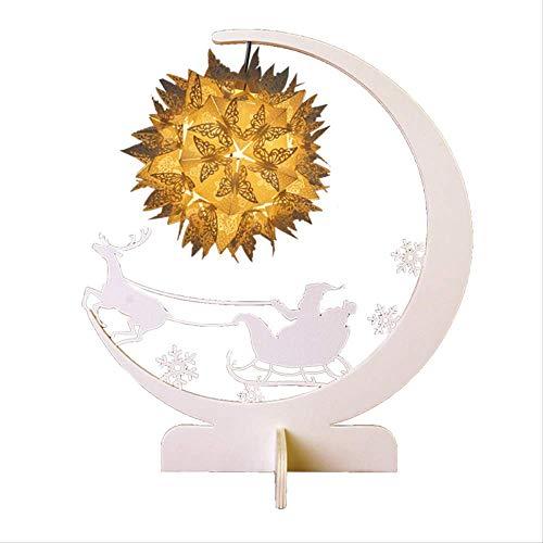 Creatieve Led Christmas Home Diy Nachtlampje Usb Study Kleine Tafellamp 3D Driedimensionaal Papier Home Paper Carving Lamp
