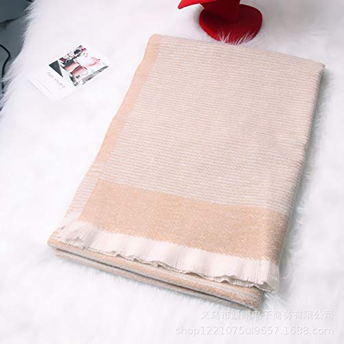 HVTKL herfst en winter warme kasjmier sjaals Ms. oversized sjaal monochroom kort haar Koreaanse wilde kraag paar gift
