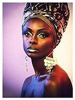大人延伸キャンバスキット初級アーティスト - 水彩アクリル塗装油絵アートクラフトデコレーションギフト - アフリカの美しさ (Size : 50x60cm)