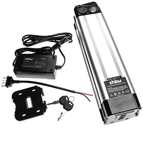 vhbw batteria per tubo sella (8,8Ah, 24V, Li-Ion) incl. caricatore compatibile con e-bike, bicicletta elettrica per es. Prophete, Mifa